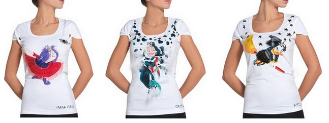 060c6cb97df11 Le streghe Disney sulle t-shirt firmate Pinko
